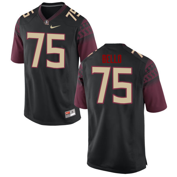 Men #75 Abdul Bello Florida State Seminoles College Football Jerseys-Black