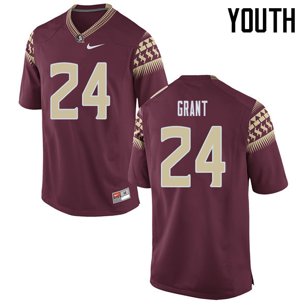 Youth #24 Anthony Grant Florida State Seminoles College Football Jerseys Sale-Garent