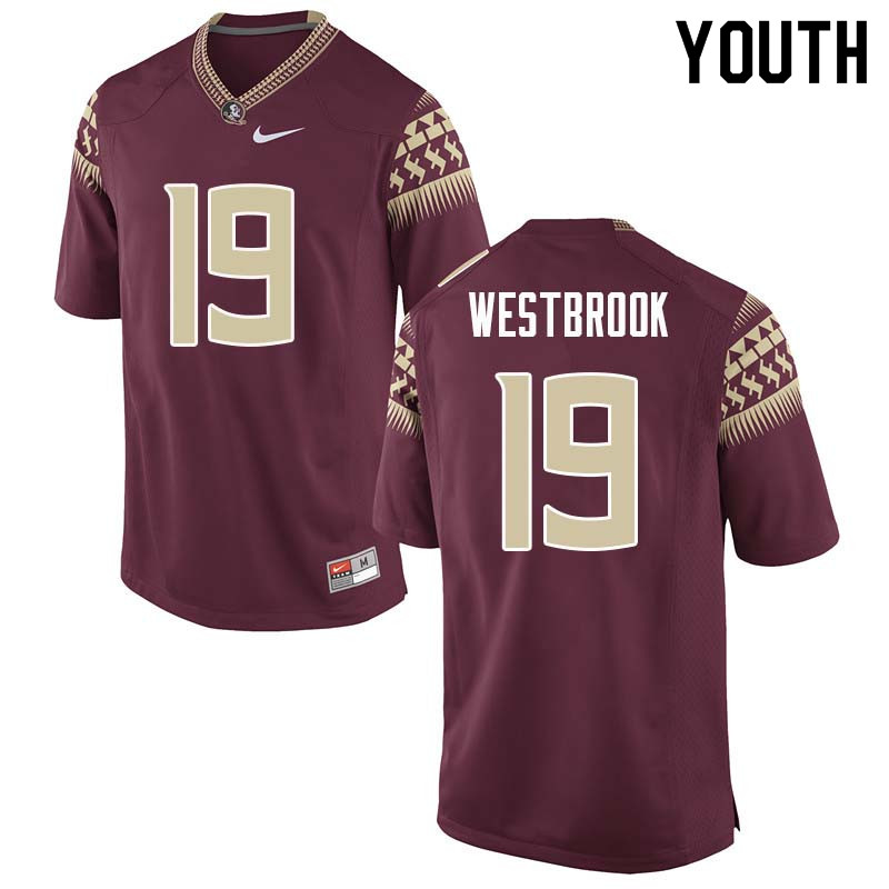 Youth #19 A.J. Westbrook Florida State Seminoles College Football Jerseys Sale-Garnet