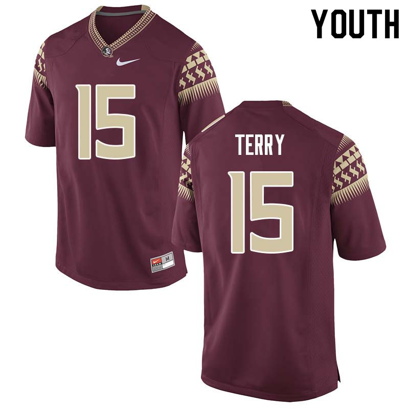 Youth #15 Tamorrion Terry Florida State Seminoles College Football Jerseys Sale-Garnet
